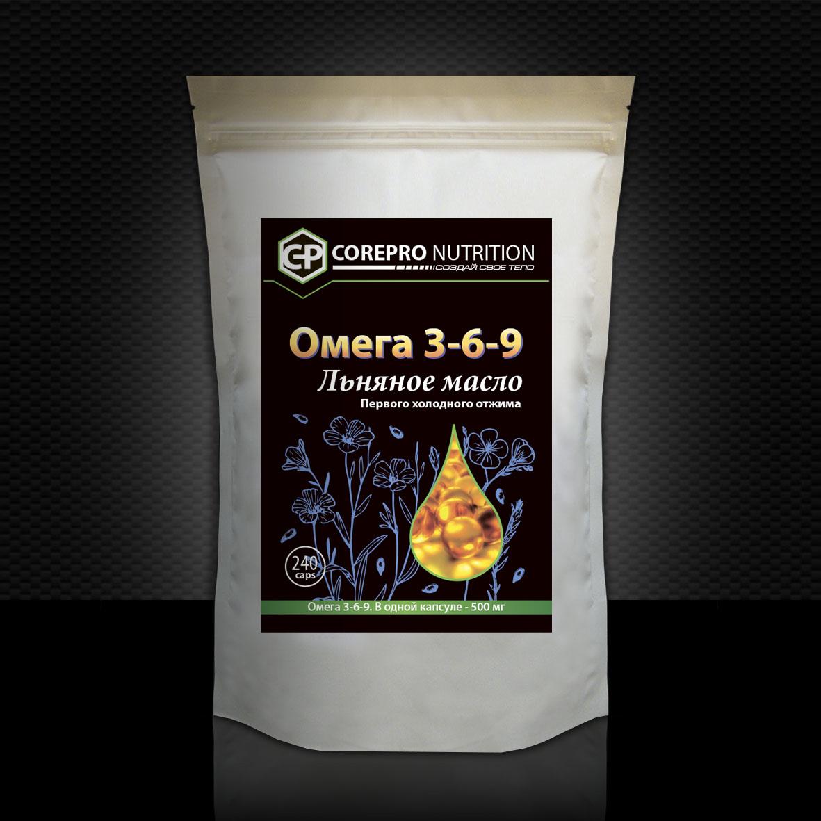льняное масло фото интернет магазин CorePro Nutrition